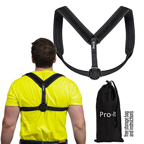 Posture Corrector | For Men & Women, Upper Back Pain Reliever, 8-Shaped Lightweight Artistic Piece Improves Posture,Clavicle Support, Non-Slouching, Thick Padding For Shoulder - Band Soleil De