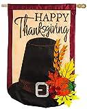 Thanksgiving Pilgrim Hat Regular Applique Vertical Flag For Sale