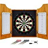 Trademark Global 15-9000PLAIN Solid Wood Dart Cabinet Set