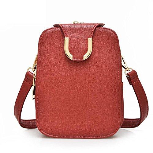 DJB/Damen Schulter Taschen Freizeit Taschen Tide Handy Paket rot 3Xthz