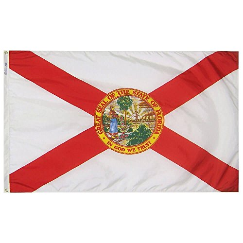 Annin Flagmakers Model 140980 Florida State Flag Nylon SolarGuard NYL-Glo, 5x8 ft, 100% Made in USA to Official Design Specifications ()