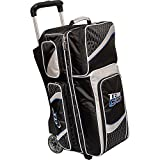 Columbia 300 Columbia Team Columbia 3 Ball Roller Bowling Bag, Black/Silver