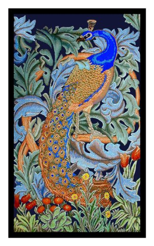 Orenco Originals Peacock by William Morris Counted Cross Stitch Pattern ()