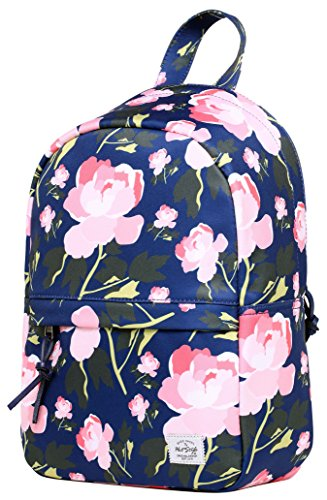 OLETHA Mochila Bolsos Mujer Pequeños | A4 formato | 34x23x11cm | Future Totemic D212c, Marina Floral