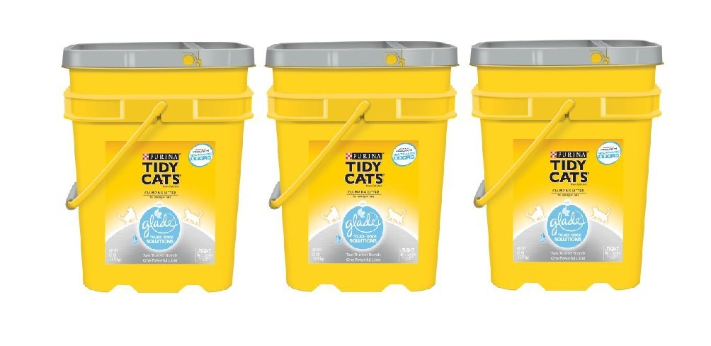 Purina Tidy Cats Glade Tough Odor Solutions Clear Springs Clumping Cat Litter 35 lb. Pail Pack of 3