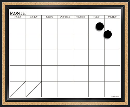 The Board Dudes 18'' x 22'' CorX Magnetic Dry Erase Calendar (CYK39) by The Board Dudes