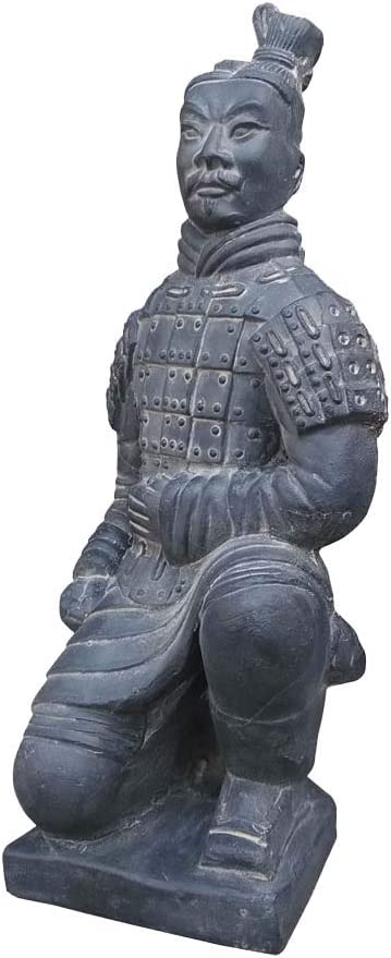 Qin Terracotta Warriors and Horses Statue Sculptures, Clay Chinese Soldiers and Warriors Art Statue Models