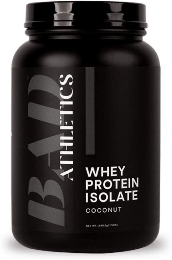 Bad Athletics Grass Fed 100% Whey Protein Isolate, Coconut - Five Ingredients, 20g of Protein, Naturally Flavored & Sweetened(30 Servings)