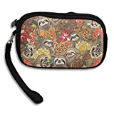 Men&Women Small Wallet Because Sloths Autumn.PNG Easy To Carry Storage Bag Purse