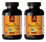 Libido supplements for men - MACA PLUS 1300mg - Maca root bulk supplements - 2 Bottles 120 Tablets