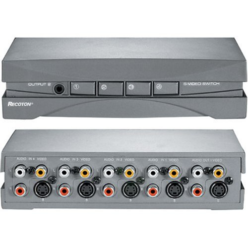 - Recoton DVD1000 S-Video/Stereo RCA Audio/Video Selector