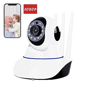 AOKASIX 1080P Cámara IP WiFi,Cámara de Vigilancia Zoom Vision Nocturna Detección de Movimiento y