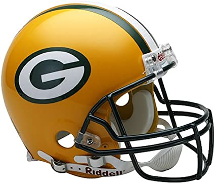 Amazon Com Nfl Green Bay Packers Full Size Proline Vsr4 Football Helmet Sports Related Collectible Full Sized Helmets Sports Outdoors