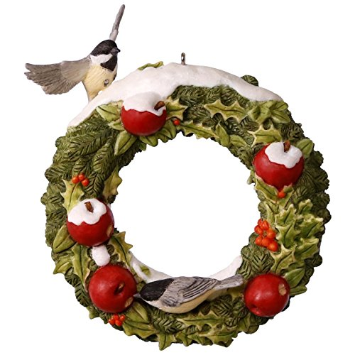 Hallmark Keepsake 2017 Marjolein's Garden Welcoming Wreath Christmas - Apple Christmas Tree Ornaments
