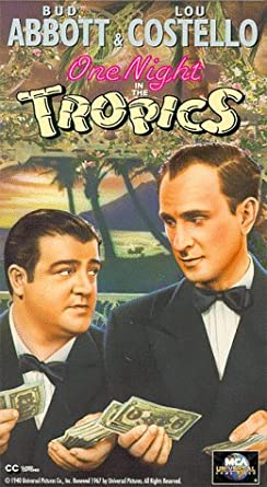 One Night in the Tropics Amazoncom One Night in the Tropics VHS Allan Jones Nancy Kelly