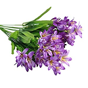 Koala Superstore Beautiful Artificial Orchid Bouquet Home Decoration Fake Flowers, 2 Bunches, Purple 32