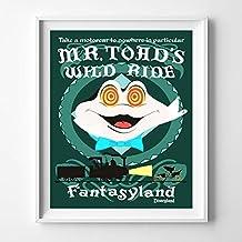 Disneyland Mr.Toad's Wild Ride Fantasyland Wall Art Poster UNFRAMED