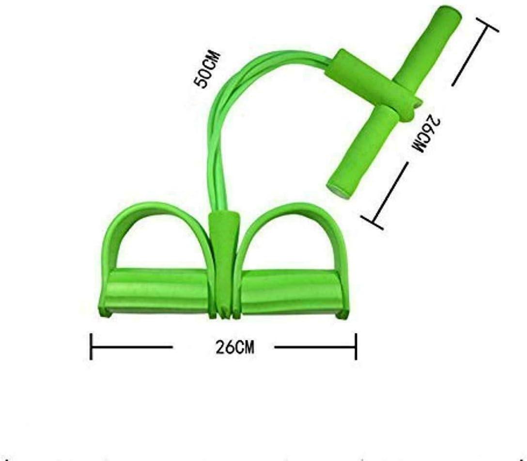 Equipo de Ejercicios de 4 Tubos Sinye Ejercitador de piernas con Cuerda de tensi/ón multifunci/ón Abdominal Bodybuilding Expander Equipo de Entrenamiento de Cuerda el/ástica