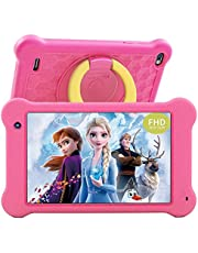 AEEZO Kids Tablet 7 inch WiFi Android 10 Tablet PC New FHD 1920x1200 IPS Screen, 2GB RAM 32GB ROM, Parental Control, Kidoz Installed, Eye Protection Anti Blue Light Screen Prime (Pink)