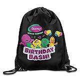 Barney And Friends Nylon Drawstring Sack Bag Home Travel Sport Storage
