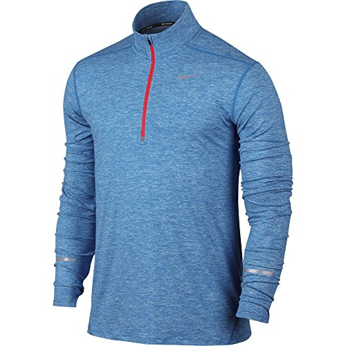 Men's Nike Dry Element Running Top Photo Blue/Bright Crimson Size XX-Large