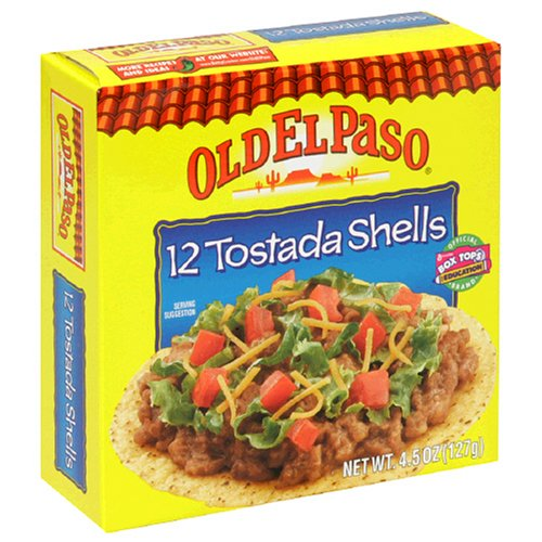 Old El Paso Tostada Shells, 4.5-Ounce Boxes (Pack of 12)