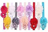 Qandsweet Baby Girl's Headbands Chiffon Hair Flower
