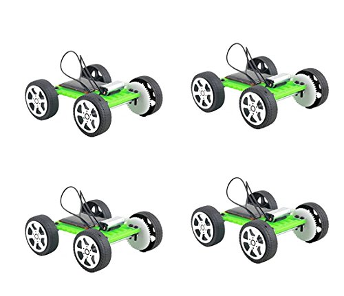 Solar Car Toy - Fashionclubs 4pcs/set Children DIY Assemble Solar Power Car Toy Kit Science Educational Gadget Hobby
