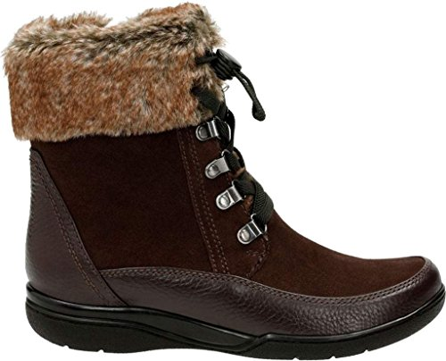 Women's W Boot 6 US Brown Leather Ramsey Clarks Kearns Lined Ankle Warm Bxp6Uwq6Z