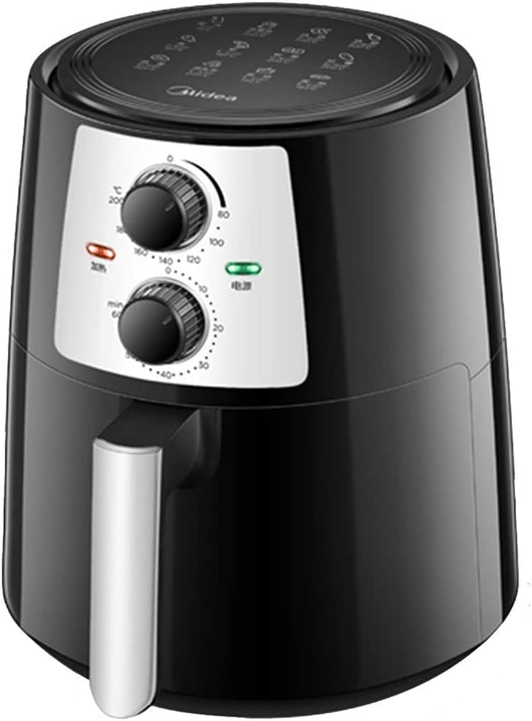 ZLJ Electric Air Fryer Air Fryer, New Home Use Oil Free Air Fryer, 4.2L Large Capacity Automatic Electric Deep Fryer, Knob Electric French Fries Machine (Color: Black, Size: 353026cm)