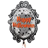 Anagram Happy Halloween Spooky Mirror Supershape Foil Balloon
