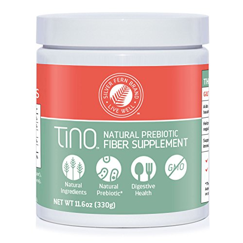 Tino Natural Gluten Free Prebiotic Fiber Supplement - With Tart Cherry Extract & Polycan Black Yeast Extract - Non-GMO, Water Soluble Fiber Powder Mix (1 Cannister - 11.6 Oz)