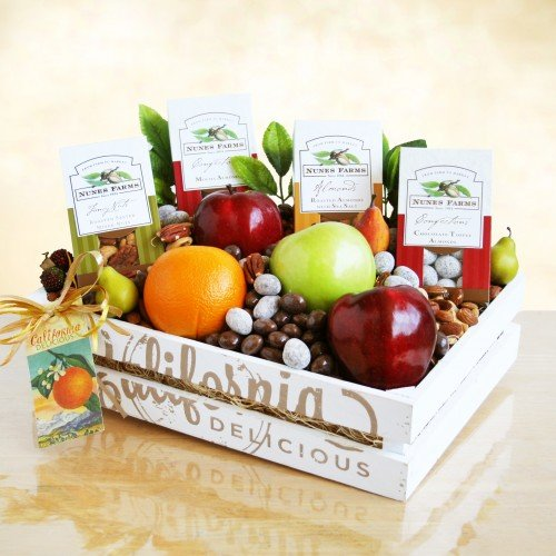 California Healthy Fruit & Nut Collection Gift Basket By California Delicious