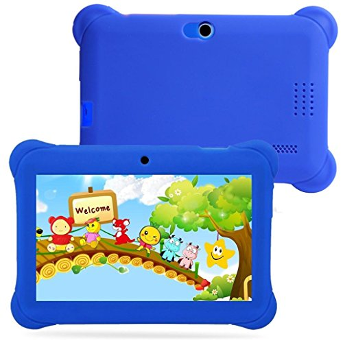 """Price comparison product image Kids Edition Tablet, 7"""" HD Display, 8 GB, Kid-Proof Case, Android 4.4 Quad Core, 3D Game Supported (Blue)"""