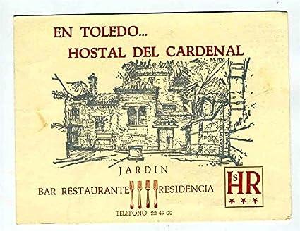 Hostal Del Cardenal Brochure Bar Restaurnat Residencia Toledo Spain 1968 Botin