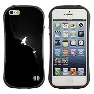 Suave TPU GEL Carcasa Funda Silicona Blando Estuche Caso de protección (para) Apple Iphone 5 / 5S / CECELL Phone case / / Devil Clouds Crescent Waning Night /