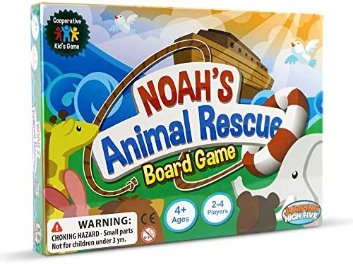Jumping High Five Noah's Animal Rescue! Kids #1 Cooperative Matching Game for Kids Ages 4 and Up – Teach Children New Skills While Having Fun – Hot Toys for 2019. Learning Board Games Ages 4 to 8.