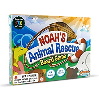 Noah's Animal Rescue Board Game! The #1 Cooperative Matching Game for Kids Ages 4-8 - The perfect Christmas or Birthday Present.