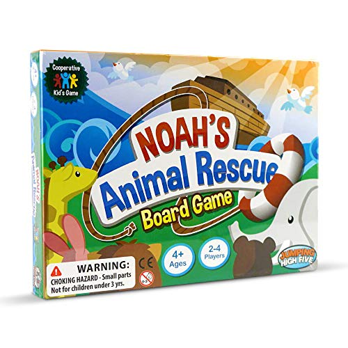 Noahs Ark Card Game - Noah's Animal Rescue! Kids Board Games Ages 4 8 - Learning & Cooperative Games for Kids Ages 4 and Up - Teach Children New Skills While Having Fun - Hot Toys for 2019 Birthday Presents.