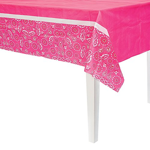Fun Express - Pink Cowgirl Tablecover for Birthday - Party Supplies - Table Covers - Print Table Covers - Birthday - 1 Piece ()