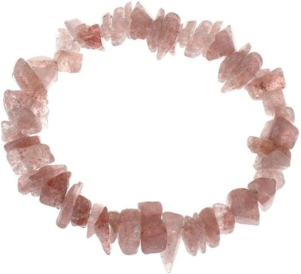 Aya611 Pulseras Pulseras Chips De Círculo Simple para Mujer Nuggets Claro Cuarzo Opal Moonstone Stone Pulseras