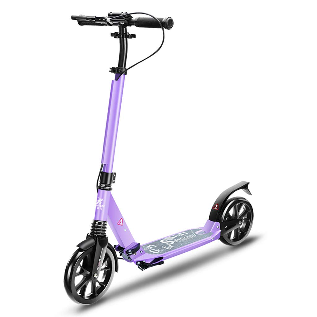 キックボード キックスクーター キックボード 折りたたみ式大人用スクーター(ハンドブレーキ付)、ポータブルキックスクーター(女性用)男性用通勤、100kg、非電動 (色 : (色 Purple) Purple) Purple B07KR4X3XN, ビューティー応援団:4345bd3a --- srv.ferraridentalclinic.com.lb
