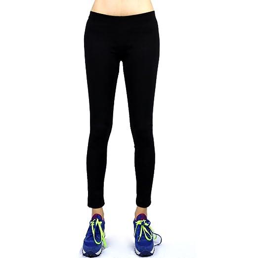c583134740 The Elixir Yoga Women's Soft Cotton Spandex Yoga Workout Gym Cropped Sports  Pants, Black,