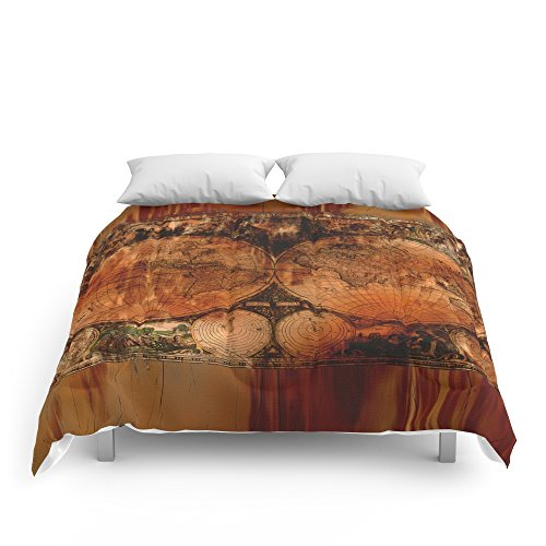 High quality society6 rustic old world map comforters queen 88 x high quality society6 rustic old world map comforters queen 88 gumiabroncs Image collections