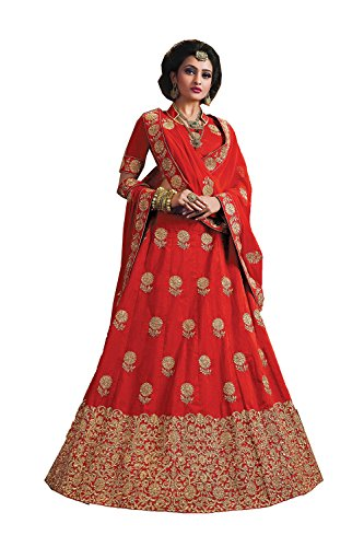 PCC Indian Women Designer Wedding Red Lehenga Choli Fabz-2626
