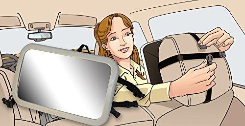 Back Seat Mirror: Mr. Peekatmee Backseat Baby Safety Mirror by Mr. Peekatmee (Image #3)