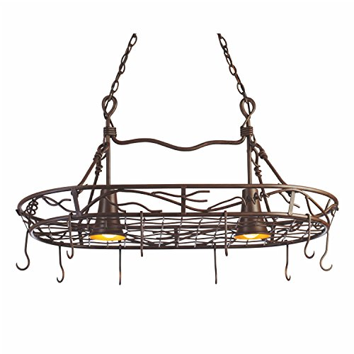 Pot Rack With Pendant Lights in US - 8