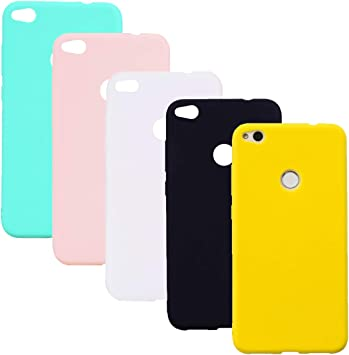 HereMore 5 x Coque Huawei P8 Lite 2017, Etui TPU Gel Silicone Souple Coque Cover Ultra Mince Doux Soft Case Housse Protection Anti Rayures pour Huawei ...