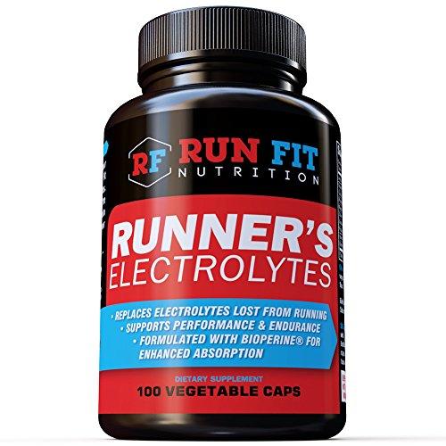 Runner's Electrolytes | Advanced Electrolyte Capsules | Maximum Hydration, Endurance, Avoid Muscle Cramps & Fatigue | Potassium, Sodium, Magnesium, Zinc & More! | 100 Electrolyte Capsules! | USA Made!