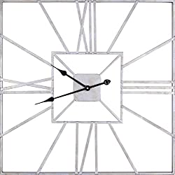 ArtMaison.ca Square IV Square Metal Wall Clock, 31-Inch by 31.5-Inch